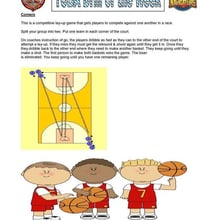 Competitive Lay-up Game